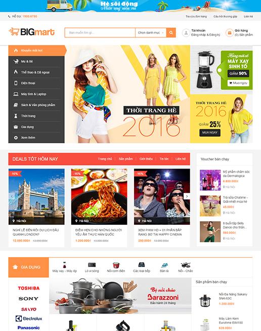 Dự án : Mẫu giao diện website bán hàng Mua nhanh
