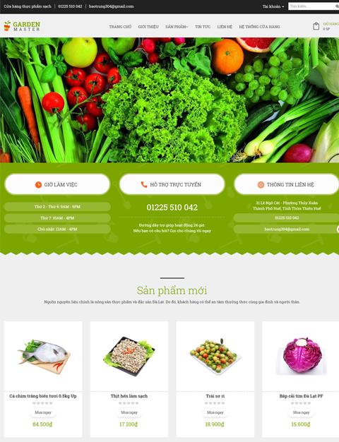 Thực phẩm sạch - Garden